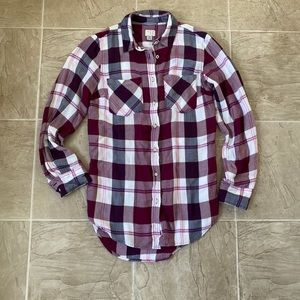 A new day plaid button-down